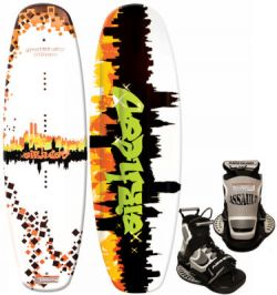 Airhead Graffitti City WakeBoard with Assault Bindings